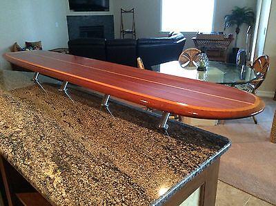 Wood Surfboard Bar Table Wall Hang Art Decor Ebay
