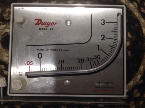 Dwyer Mark II Manometer Model 25 Range -.05-3