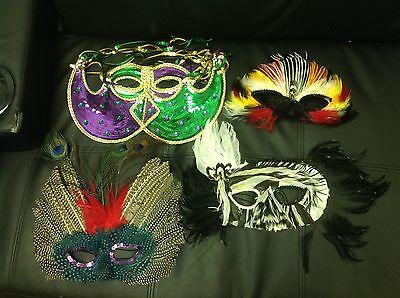 Madi Gras masquerade masks