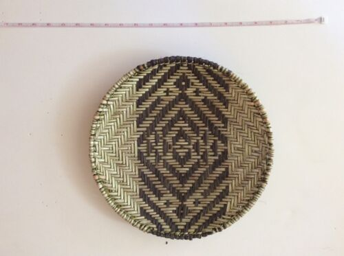 Hopi basket sifter by Doreen Gashwesoma geometric pattern