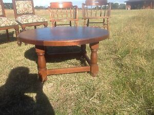 Old wooden coffee table Lakes Entrance East Gippsland Preview