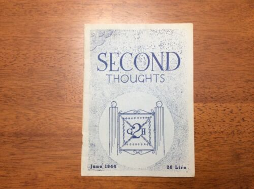 1944 WWII Second Thoughts 2nd General Hospital 2GH Royal Army Medical Corps MAG