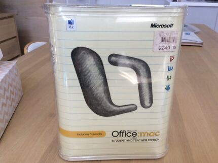 Microsoft Office Mac student teacher edition 2004