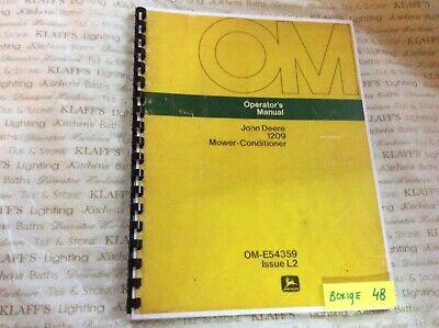 John Deere 1209 Mower-conditioner Manual Om-e54359
