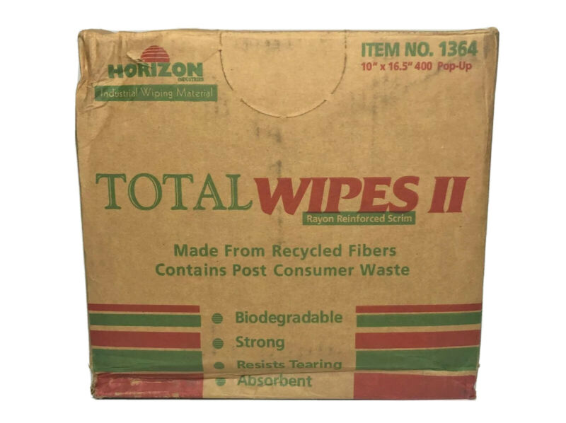 Horizon Industries Biodegradable Machinery Wiping Towel, 10 x 16.5, 400/Carton