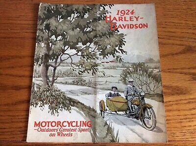 VINTAGE 1924 HARLEY DAVIDSON MOTORCYCLE SALES