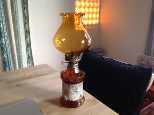 Glass kerosene oil lamp