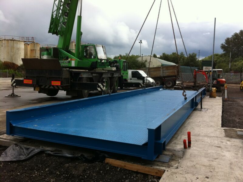 One of our new bridges being installed