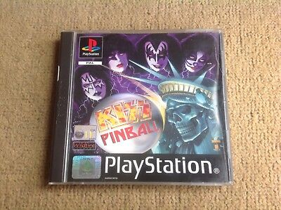 PlayStation 1 PS1 - Kiss Pinball - Complete With Manual - Cracked Case FREE POST