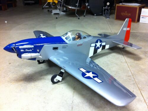 "P-51 Mustang 56"" RC Plane! OS Engine! Futaba Servos!"