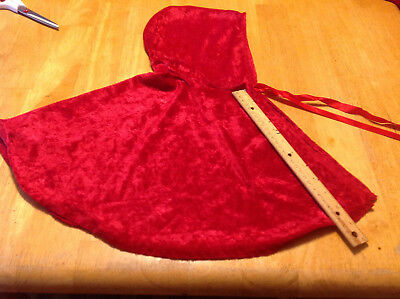 toddler baby little red riding hood cape crushed velour
