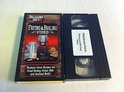 (Oklahoma Joe's Frying & Boiling Video VHS Great Recipes Fried Turkey Prime Rib )
