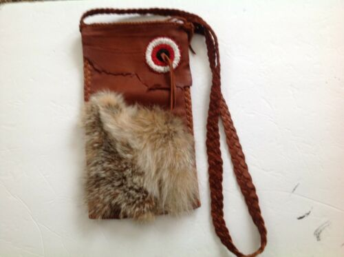 Unique Handcrafted soft cured leather bag made by Eskimo woman in Alaska