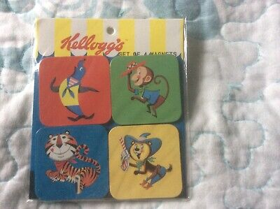 Lot Of 4 Refrigerator Magnets Featuring Vintage Kellogg's Characters