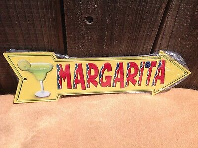 Directional Sign (Margarita This Way To Arrow Sign Directional Novelty Metal 17