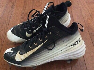 e405bcec01f6 Nike Lunar Vapor Trout Flywire Metal Baseball Cleats Black size 9 Preowned  FS