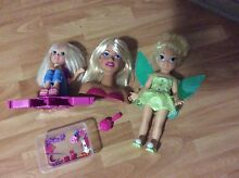 Barbie Style Head / Tinkerbell doll / Polly Pocket Thornlie Gosnells Area Preview