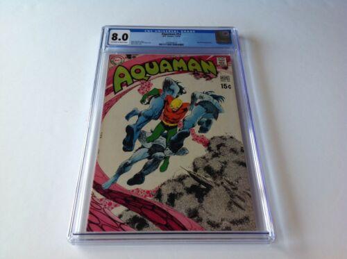 AQUAMAN 52 CGC 8.0 DEADMAN NEAL ADAMS ART COOL COVER NICK CARDY DC COMICS