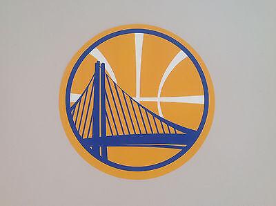 Logo Fathead Basketball - Golden State Warriors FATHEAD Official Team BASKETBALL Logo Graphic 9.25