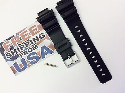 16mm Fits CASIO DW-6900 G-Shock Black PVC Watch BAND Strap DW-6900B DW-6600 pins, used for sale  Chula Vista
