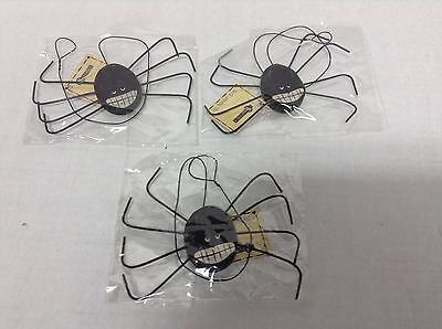Hanging Halloween Wooden Spider Spiders Home Office Decor Ornament Set 3 - Halloween Decorations Office