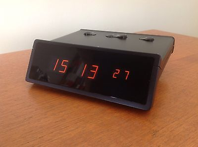 Braun DN42 Model 4815 Vintage Digital Alarm Clock Nixie Panaplex Tube Rare