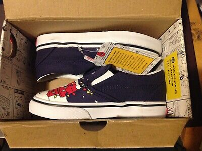 NEW Vans Peanuts Christmas Charlie Brown Tree Classic Slip on Shoes Toddler 9