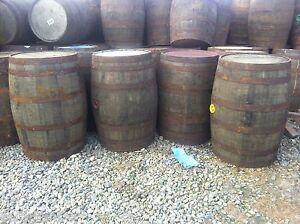EX WHISKEY OAK BARREL 40 GALLON Wooden Keg Water Barrels Butt Cider Pub Table.