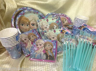 pack ~ lg ~ sm plates ~ napkins ~cups ~ straws ~ 16 guest (Frozen-party-pack)