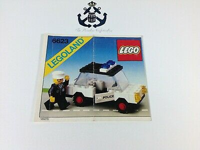 Lego Vintage Instructions Police Car Set 6623-1 Classic Town, Police, City