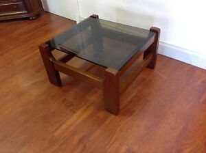 Timber Glass Top Lamp Table/Coffee Table Mulgrave Monash Area Preview