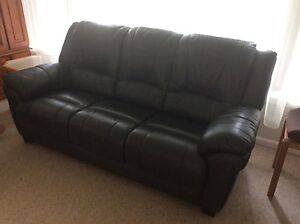 Leather lounge and 2 recliner chairs Elanora Heights Pittwater Area Preview
