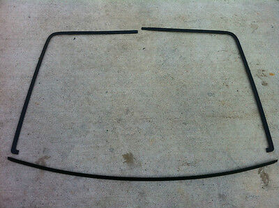 87-93 Ford Mustang Hatch Window Metal Trim Exterior Glass OEM Restored COLOR !  - Metal Trim Glass