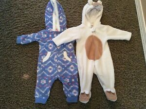 Warm and cozy baby fleece onesie.