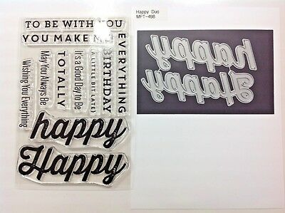 My Favorite Things Happy Everything Stamp Set and MFT Happy Duo Die-namics Dies