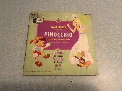 Disque vinyle 45 tours B2 /walt disney, pinocchio