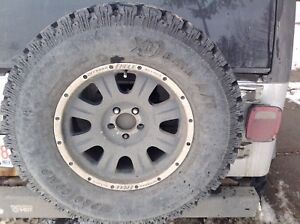17 inch offroad eagle alloy rims set of 5 one tire included TJ