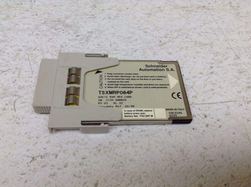 Schneider Modicon TSXMRP064P 64K16 Ram Memory Card TSX MRP064P TSX MRP 064P