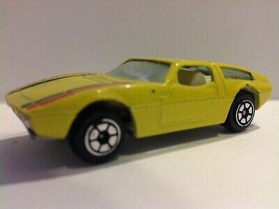 Vintage Yatming 1970s Maserati Bora rare YELLOW 1/64 Scale #1013 diecast car