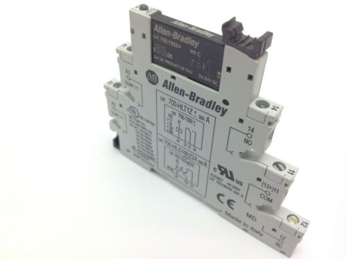 Allen Bradley 700-TBS24 Relay & 700-HLT1Z* Terminal Block