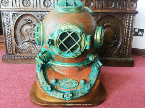 Antique Finish Deep sea Scuba Divers U.S Navy Mark V-18 Diving Helmet
