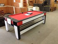 New! Pool/air hockey table at the Waterloo restore