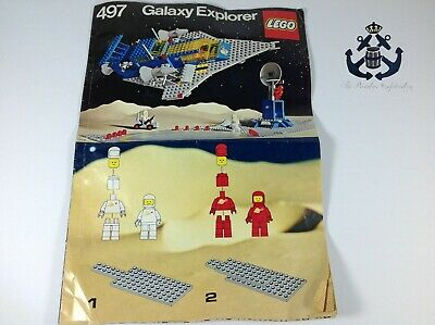 Lego Vintage 1979 (RARE) Classic Space Galaxy Explorer Instructions For Set 497