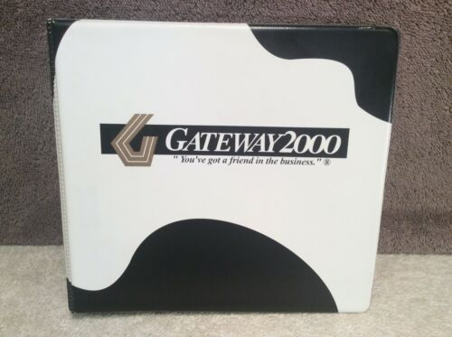 Gateway 2000 Vintage Disc Case 7 Double-Sided Pages Holds 14 Discs Case Only
