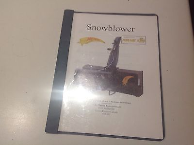 M.k. Martin Forage King Meteor 68 And 75 Skidsteer Snowblower Manual