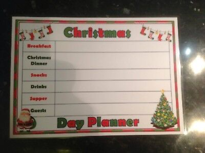Christmas menu food planner shopping list be prepared for christmas day ()