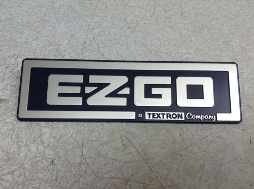 EZGO TXT Hard Plastic Silver Emblem Placard Logo Bar Name Plate New (TSC)