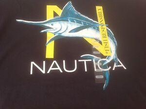 NAUTICA T-Shirt - Mens - LG - Navy Crew Neck.