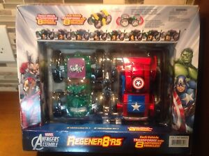 Marvel Avengers Regener8rs Captain America & Hulk 8 in 1 Trucks