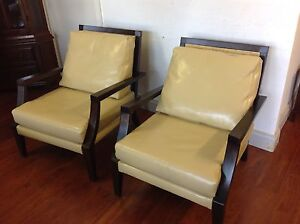 As New Leather Arm Chairs Mulgrave Monash Area Preview